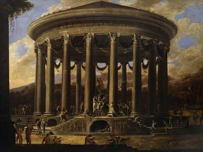 View of Temple, Painting by Viviano Codazzi (Ca 1604-1670), Italy, 17th Century