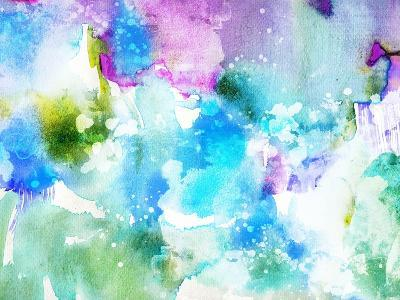 Vivid Abstract Ink Painting On Grunge Paper Texture-run4it-Art Print