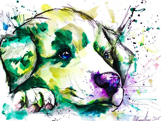 Vivid Aussie Pup-Allison Gray-Art Print
