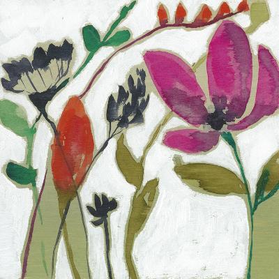 Vivid Flowers II-Jennifer Goldberger-Art Print
