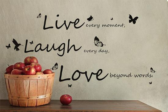 Vivid Live Laugh Love Quote Wall Decal by | Art.com