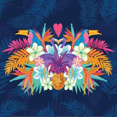 Vivid Tropical Love-James Thew-Art Print