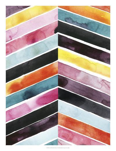Vivid Watercolor Chevron I-Grace Popp-Art Print