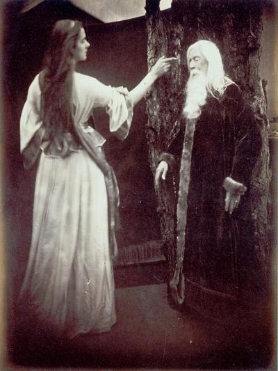 Vivien and Merlin, 1874-Julia Margaret Cameron-Giclee Print