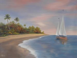 Tropical Beach I by Vivien Rhyan