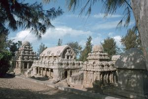 Five Rathas, Mahabalipuram, Tamil Nadu, India by Vivienne Sharp
