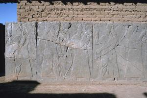 Frieze, Northwest Palace, Calah (Nimrud), Iraq, 1977 by Vivienne Sharp