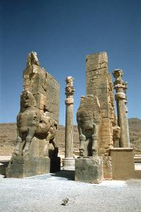 Front View of the Gate of All Nations, Persepolis, Iran by Vivienne Sharp
