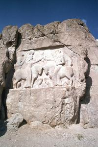 Relief of the Investiture of Ardashir I, Naqsh-I-Rustam, Iran by Vivienne Sharp