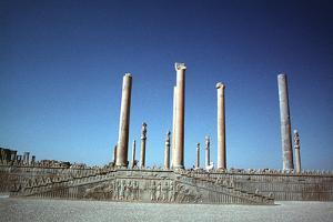 Ruins of the Apadana, Persepolis, Iran by Vivienne Sharp