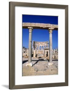 The Market, Leptis Magna, Libya, C3rd Century Ad. Pillars in the Ancient Roman City by Vivienne Sharp