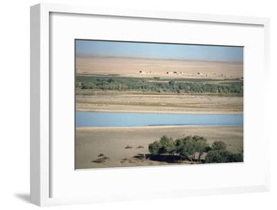 View of the River Tigris from the Ziggurat, Ashur, Iraq, 1977