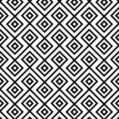 Seamless Black And White Diamonte