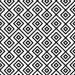 Seamless Black And White Diamonte by viviv
