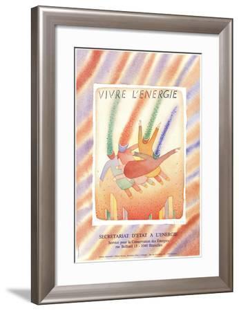 Vivre L'energie-Jean-Michel Folon-Framed Art Print