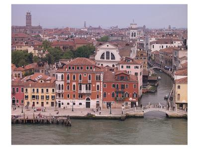 Viw of Venice Canal Houses--Art Print