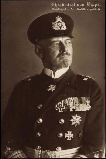 Vizeadmiral Franz Von Hipper, Erster Weltkrieg--Giclee Print