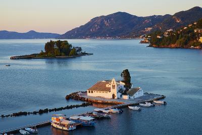 Vlacherna Monastery, Kanoni, Corfu, Ionian Islands, Greek Islands, Greece, Europe-Tuul-Photographic Print