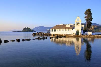 Vlacherna Monastery, Kanoni, Corfu, the Ionian Islands, Greek Islands, Greece, Europe-Neil Farrin-Photographic Print