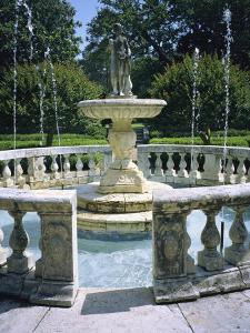 Decorative Fountain in an Elizabethan-Style Garden in Manteo by Vlad Kharitonov