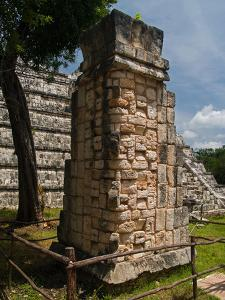 One of Four Stelae from Atop the High Priest's Temple, El Osario, Reconstructed at Ground Level by Vlad Kharitonov