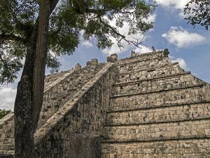 The High Priest's Temple, El Osario, in the Ancient City of Chichen Itza by Vlad Kharitonov