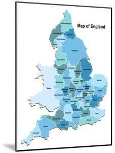 Map Of England by Vlada13