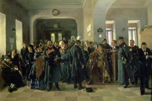 The Collapse of a Bank, 1881 by Vladimir Egorovic Makovsky