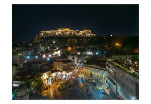 Greece Athens Acropolis Night 2 by Vladimir Kostka