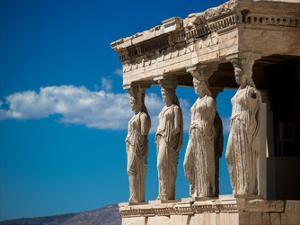 Greece Athens Acropolis Statues by Vladimir Kostka