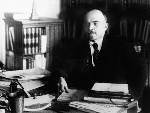 Vladimir Lenin, at His Desk Between 1920 to 1922