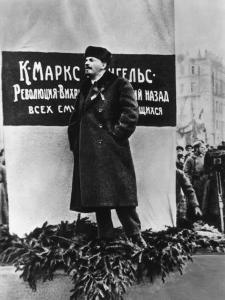 Vladimir Lenin He Speaks on the Occasion of the Inauguration of Monuments to Marx and Engels Moscow