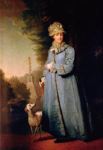 Portrait of Catherine II, 1757 by Vladimir Lukich Borovikovsky