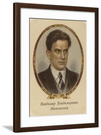 Vladimir Mayakovsky, Russian Poet, Playwright, Artist and Actor--Framed Giclee Print