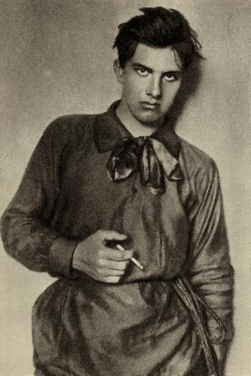 Vladimir Mayakovsky, Russian Poet, Playwright, Artist and Actor--Photographic Print