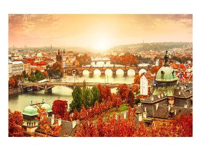 Vltava River in Prague?Czechia--Art Print
