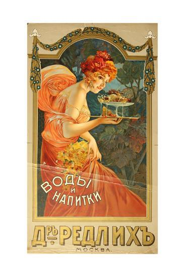 Vodka and Drinks, the Redlykh Company, 1900S--Giclee Print