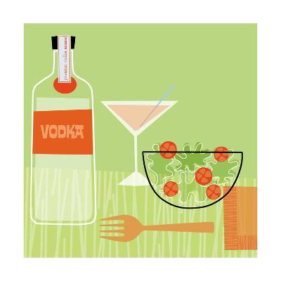 Vodka and Salad--Art Print