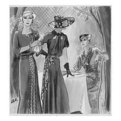 Vogue - April 1933-Creelman-Premium Giclee Print