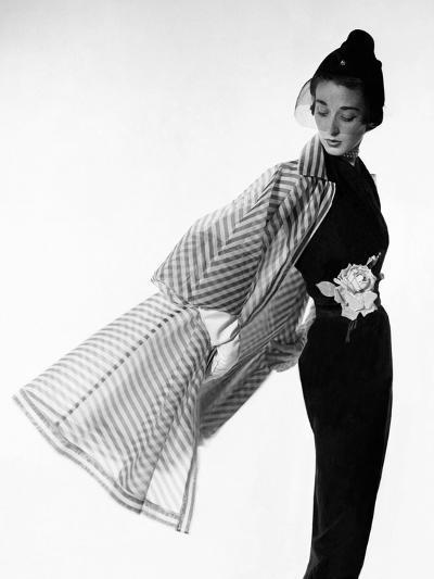 Vogue - April 1950 - Coat Flip-Cecil Beaton-Premium Photographic Print