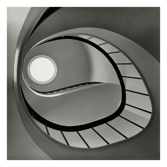 Vogue - April 1952 - Spiral Staircase-Fred Lyon-Premium Photographic Print