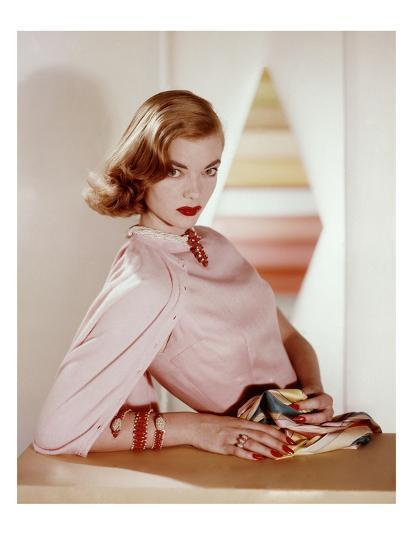 Vogue - April 1955-Horst P. Horst-Premium Photographic Print