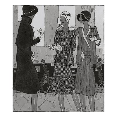 Vogue - August 1929-Jean Pag?s-Premium Giclee Print