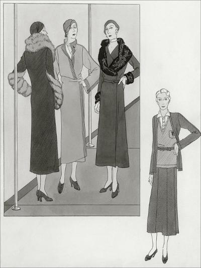 Vogue - August 1931-Polly Tigue Francis-Premium Giclee Print