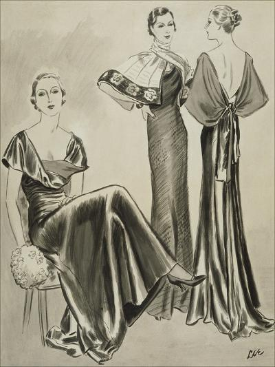 Vogue - August 1933-Creelman-Premium Giclee Print