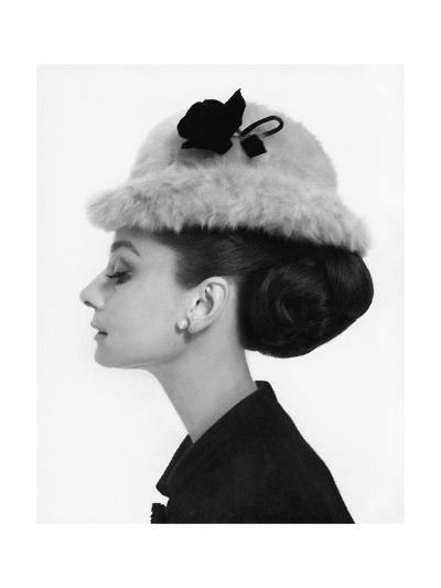 Vogue - August 1964 - Audrey Hepburn in Fur Hat-Cecil Beaton-Premium Photographic Print