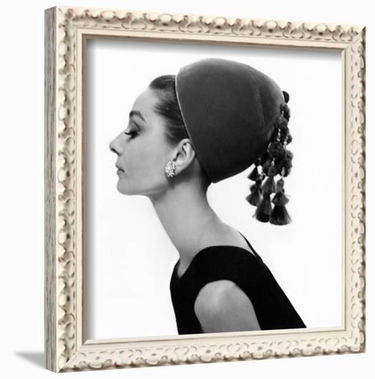 Vogue - August 1964 - Audrey Hepburn in Velvet Hat Framed ...