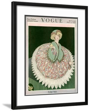 Vogue Cover - April 1916-George Wolfe Plank-Framed Giclee Print