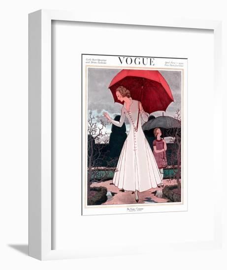 Vogue Cover - April 1922-Pierre Brissaud-Framed Premium Giclee Print