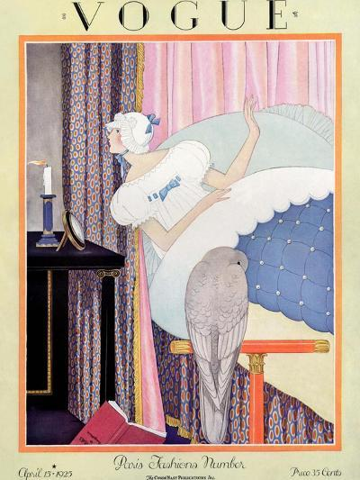 Vogue Cover - April 1925-George Wolfe Plank-Premium Giclee Print
